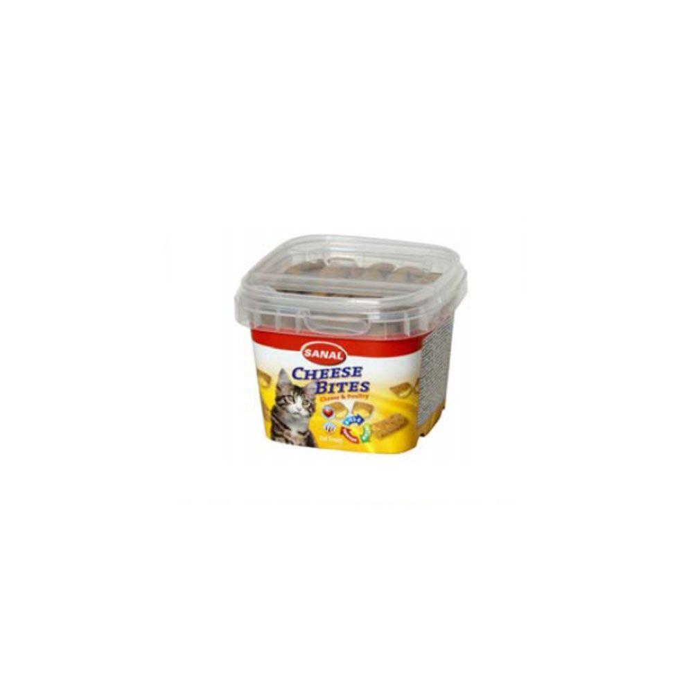 Sanal Chesse Bites Snack para Gatos 75 G