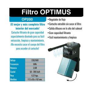 Filtro Interior para Acuarios Optimus 200 de ICA