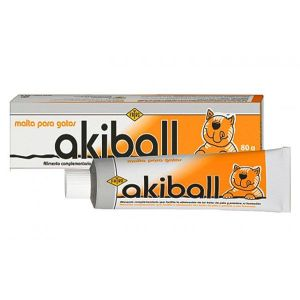 Akiball Malta para gatos Anti hair ball 80 gr