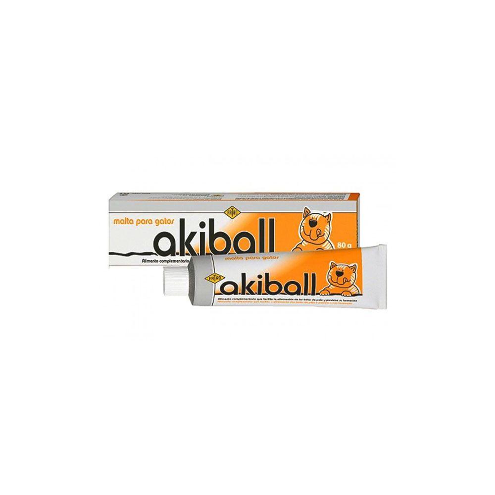 Akiball Malta para gatos Anti hair ball 80 gr