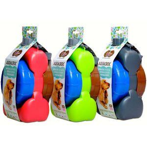 Egopet Aquacroc  Kit de viaje multiuso para perros con botella, comederos y dispensador de bolsas . Tamaño Mediano
