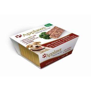 Applaws pate para perros sabor a Pollo en tarrina de 150 gr. Comida Húmeda 100% Natural Super premium