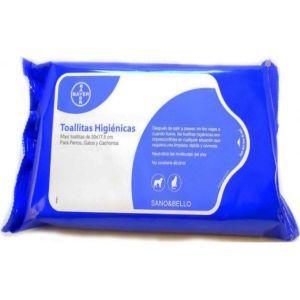 Bayer Sano & Bello Toallitas Higienicas Limpiadoras para Mascotas. Perfumadas con Aroma a Talco