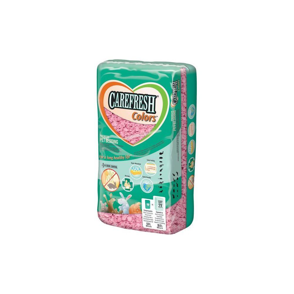 Lecho Carefresh de celulosa rosa para roedores (10lts)