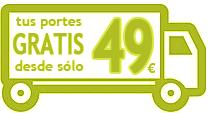 Portes gratis desde 49 euros